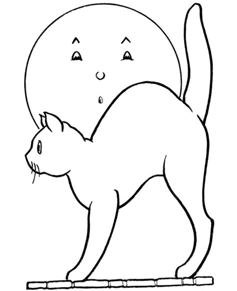 simple cat face az coloring pages