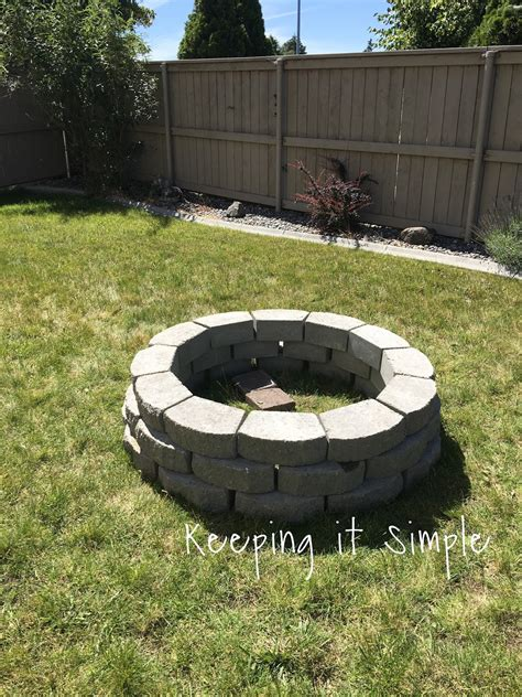 build a firepit 100 build your own backyard pit pit 30
