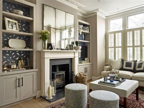 lily paulson ellis designs living room  antique mirror