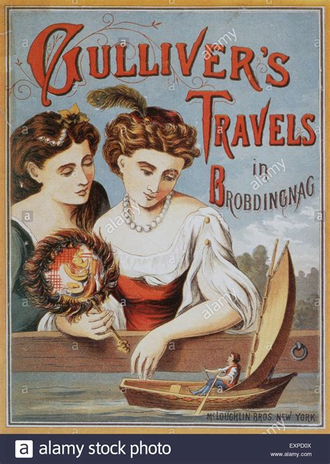 travels with in search of south america books 1910s uk gulliver s travels book cover stock photo