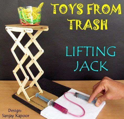 diy engineering projects toys from trash diy hydraulic lift engineering activity