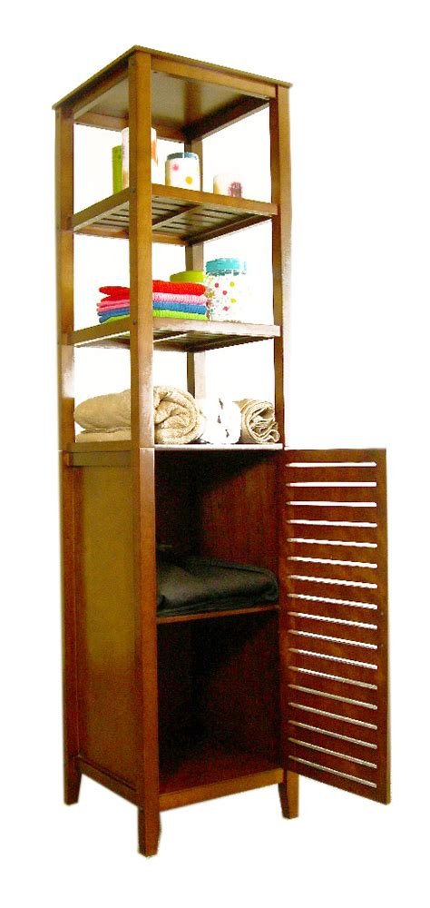 Bathroom Tower Cabinet Spa Bath Tower With Cabinet By Proman In Bathroom Shelves