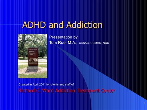 Diy Detox Theraly For Adhd by Adhd And Addiction Rue 2001