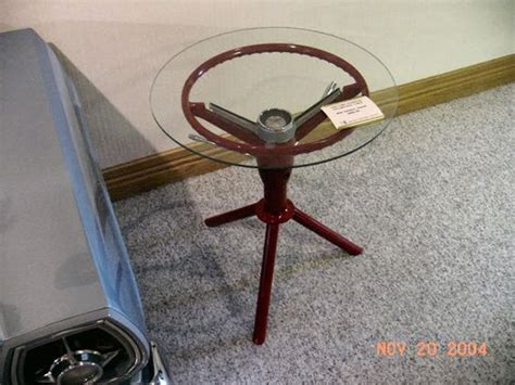 Steering Wheel Table by Steering Wheel End Table And Other Auto Ideas Car