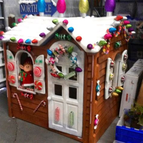 fun outdoor christmas house decorations plastic outdoor playhouse outdoor playhouses and gingerbread houses on