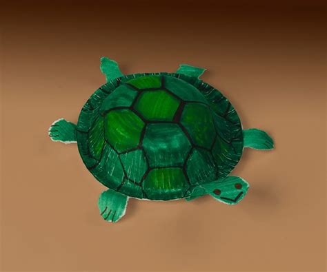 Paper Turtle Craft - poke turtles craft crayola