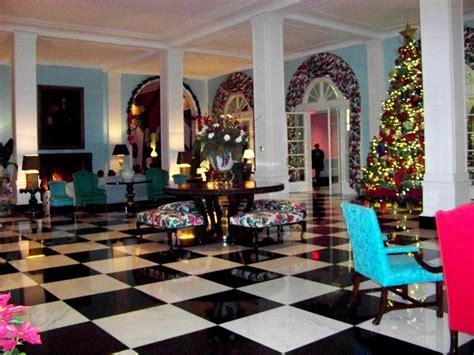 lobby   greenbrier hotel  christmas christmas