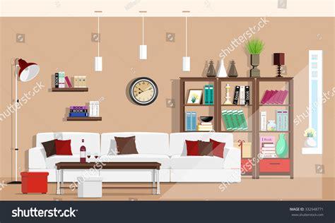design graphics room cool graphic living room interior design stock vector