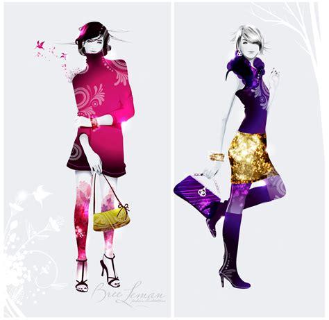 vector illustration of a stylish fashion illustration 171 bree leman