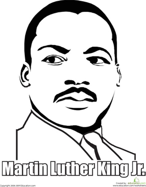 martin luther king jr coloring page king jr martin
