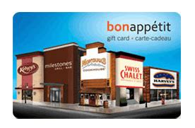 Harveys Milestone by Win 50 Bon Appetit Gift Card Swiss Chalet Milestones