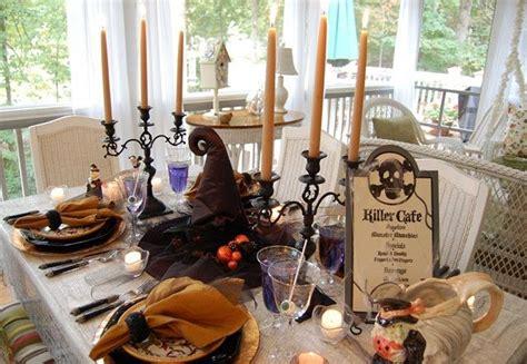 halloween tablescape dining   killer cafe