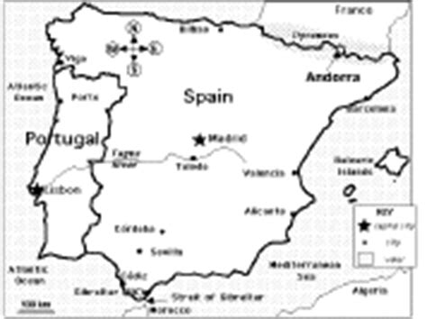 portugal map coloring page europe enchantedlearning com