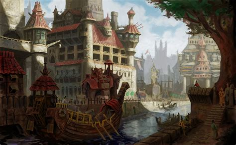 golden village wallpaper canal city by markbulahao on deviantart