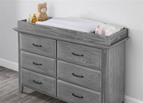 changing topper willowbrook graphite gray oxford baby