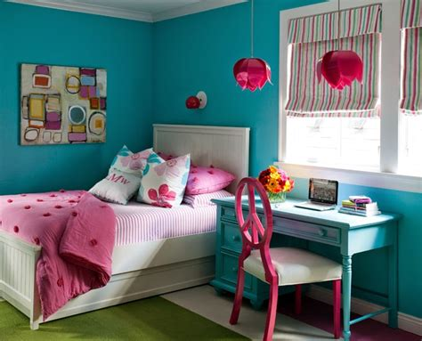vibrant girl s bedroom teenage girls bedroom ideas housetohome co uk eclectic cottage home with a vibrant yet balanced color