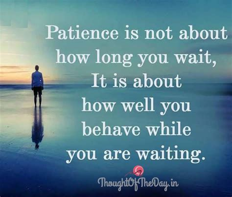 day what is it about what is patience thought of the day