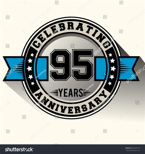 Celebrating 95th Years Anniversary Logo Vintage Stock