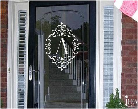 Front Door Window Decals Personalized Monogram Glass Door Decal Door Decal