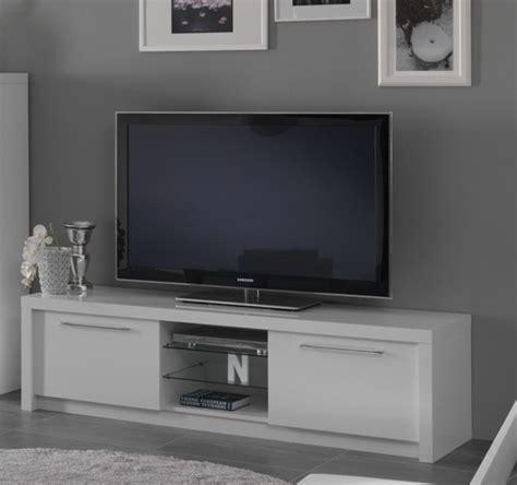 meuble tv plasma fano laque blanc blanc brillant l 180 x h