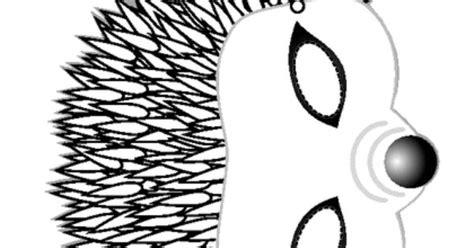 free printable hedgehog mask template hedgehog mask halloween pinterest hedgehogs masking