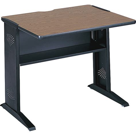 safco computer desk safco 36in reversible top mobile computer desk mahogany