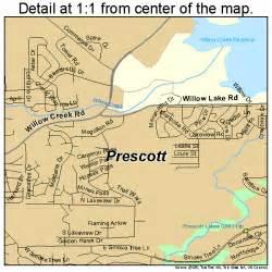map of arizona prescott prescott arizona map 0457380