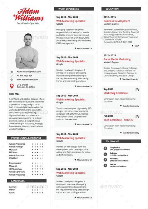 simple resume template vol 3 simple resume vol 1 graphicriver