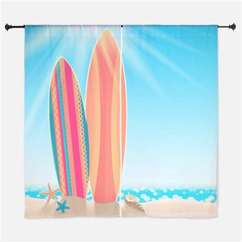 surfboard curtains surfboard window curtains drapes surfboard curtains for