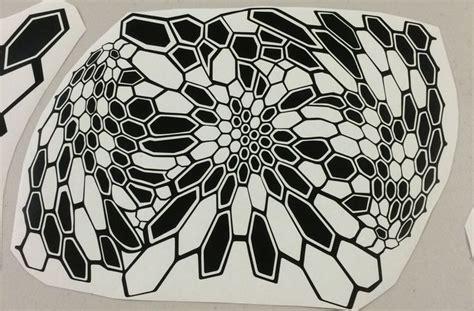 kryptek camo pattern stencil diecut sticker camo