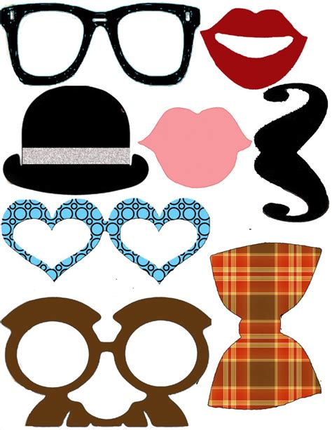 wedding photo booth props templates printable photo props
