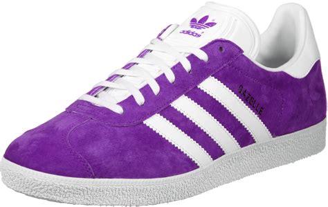 adidas gazelle chaussures violet blanc