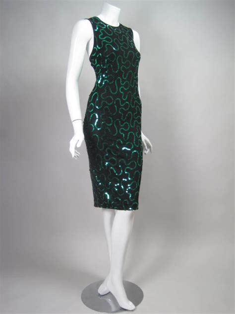 2007 Marc Bower 2 by Marc Bower Sequined Jersey Cocktail Dress At 1stdibs