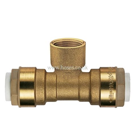 Push Plumbing Fittings by Bspt Branch Itap Fit Brass Push In Plumbing