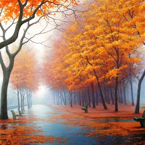 autumn road ipad wallpaper  iphone wallpapers