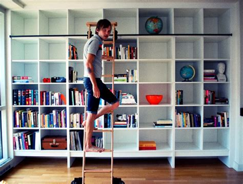 bookcase with sliding ladder triple bookcase with ladder and rail doherty house