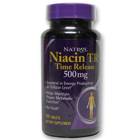 Detox From Thc With Time Release Niacin by Natrol Niacin 500 Mg Timed Release 100 Tablets