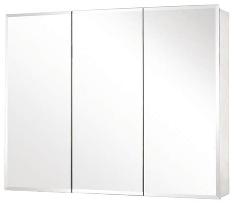 Mirror Medicine Cabinet Pegasus Sp4590 48 Quot X 31 Quot Tri View Beveled Mirror Medicine