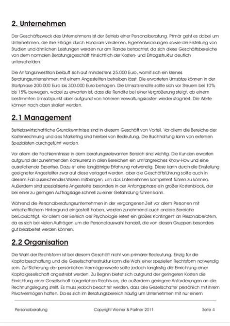 Tabellen Vorlagen Muster businessplan personalberatung vorlage hier downloaden