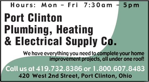 Clinton Plumbing Supply by Port Clinton Plumbing And Heating Lake Erie Vacations Ohio
