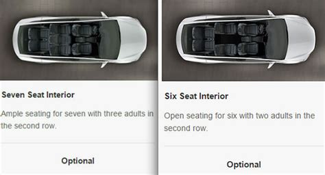 tesla model x seating new 6 seat option added to tesla model x design studio