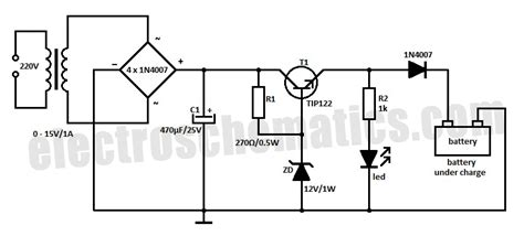 12 volt battery charger circuit diagram 12v voltage regulated charger