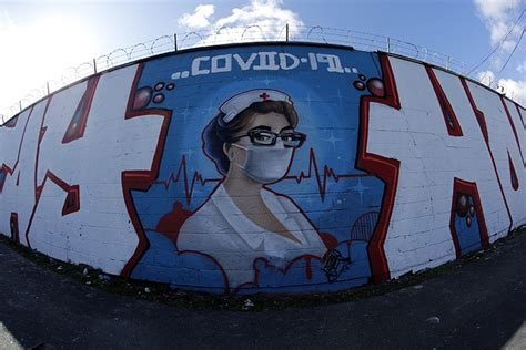 colorful coronavirus themed murals pop    world