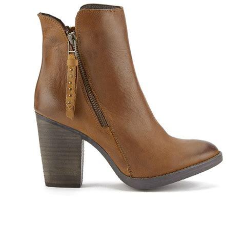 steve madden s ryatt zip leather heeled ankle boots