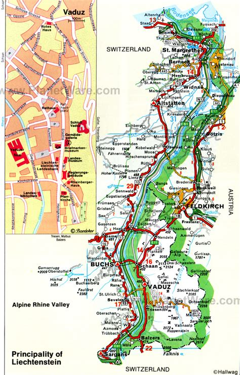 liechtenstein on a map liechtenstein principality map mappery