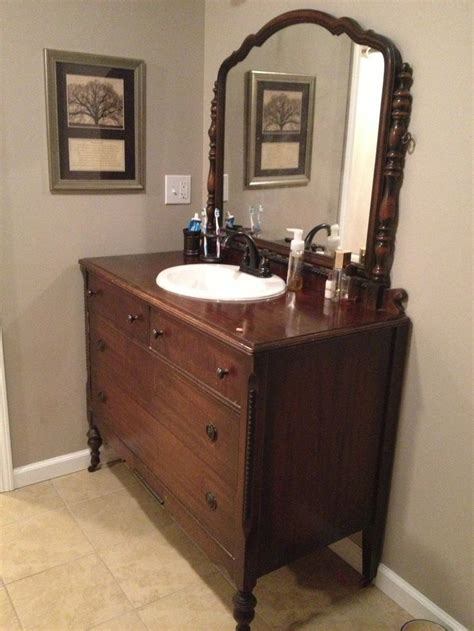 17 Best Images About Bathroom Vanities On Pinterest Antique Furniture Turned Into Bathroom Vanity