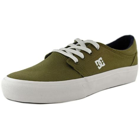 canvas sneakers mens dc shoes dc shoes trase tx canvas green sneakers athletic