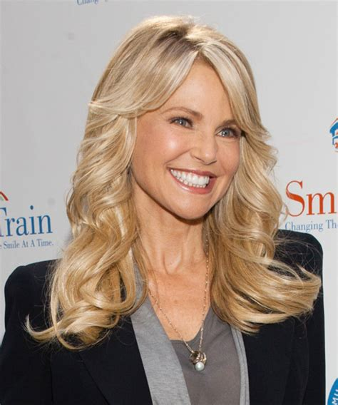 Christie Brinkley Long Wavy Formal Hairstyle with Side