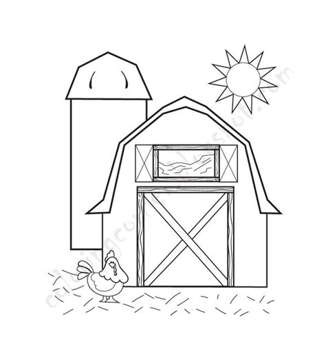 Barn Coloring Pages Free Barn Coloring Pages