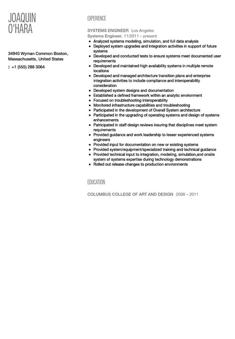 Csep Systems Engineer Sle Resume by Systems Engineer Resume Csep Systems The Salem Witch Trials Essay Sle Personal Skills In Resume
